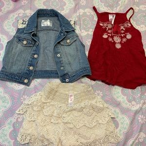 Justice lace outfit